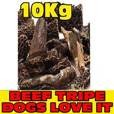 10kg chilo essiccato naturale gustosi bastoncini di Manzo Trippa curare punture snack cane masticare Pet