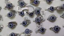 10 x Evil eye Lucky eye charm Goth Punk Silver plated fashion rings wholesale