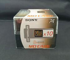 10 x Sony Premium MiniDisc 74 MD with Multi Case - New and Sealed