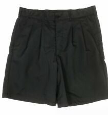 Reebok Men Black Pleated Front Golf Shorts size 42 EXCELLENT Preowned Condition