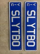 """SLY TBO"" Victorian Personalised No Plates | GTR XR BMW FPV Nissan Toyota WRX"