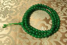 MALA Gebetskette aus Heilstein dunkelgrüne Jade 8 mm NEPAL! BESTE QUALITÄT!!