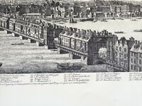 1960's RARE SET OF FIVE PANORAMAS OF OLD LONDON BY S&N BUCK FORMING ONE VIEW.