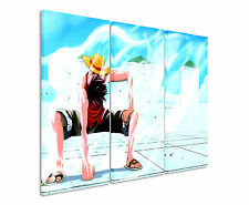 130x90cm - One_Piece_Luffy Wandbild Panorama Leinwand Sinus Art