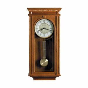 Bulova Clocks C4419 Manorcourt Chiming Indoor Decorative Pendulum Clock, Brown