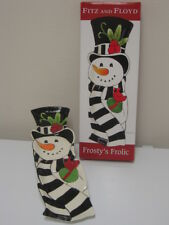 Fitz and Floyd Frosty's Frolic Elongated Christmas Snowman Tray