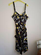 Stunning Yellow, Black & Black Debehams Dress Size 16