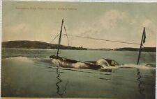 Vintage Postcard PNC Submarine Boat Pike Action Vallejo Harbor California Art