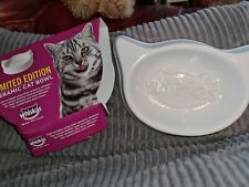 WHISKAS CAT FOOD CAT HEAD SHAPED BOWL LIMITED EDITION BOXED