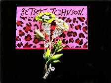 Crystal Flower Women's Brooch Pin Betsey Johnson Fashion green Enamel