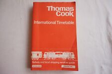 Dec 1980 Thomas Cook Overseas  Continental Timetable Railway Road Services