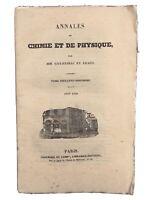 Annales de Chimie et de Physique 1836 Gay Lussac Arago Luxeuil Saussure Liebig