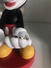 Solid 14 Carat Yellow Gold Pandora Ring 150173EN16 Ring Black Enamel SIZE 60