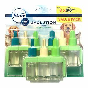 Febreze 3Volution Air Freshener Plug In Refill 3 Pack 20ml Pet Odour Eliminator