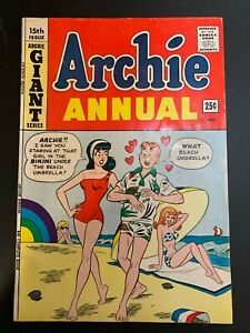Archie Comics ARCHIE ANNUAL #17, FN-, 1966 SWIMSUIT COVER! No Reserve!