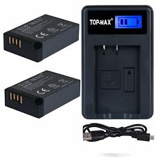 TOP-MAX�'® High Power LP-E17 Battery 2-Pack + USB Charger for Canon EOS M3 750D