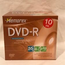 Memorex Dvd-R - 10 Pack - New in Sealed Pack - 16X 4.7Gb 120 Min Video