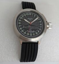 Russian 24-Hour Watch Submarine TYPHOON (Akula) Black 52 mm