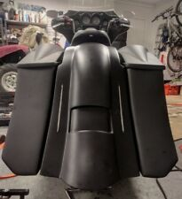 """6"""" DOWN 9"""" BACK STRECH SADDLEBAGS/LED FENDER WITH 8X8"""" LIDS FOR TOURING 97-2008"""