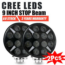 Pair 9inch 120W CREE LED SPOT Driving Lights Round Spotlights Headlight With DRL