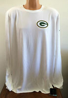 Nike Mens XXXL 3XL NFL Football Green Bay Packers Long Sleeve Dri-Fit T Shirt