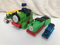 Vintage Thomas The Tank Engine Green Trains Toys Bundle X 5 Tomy Golden Bear