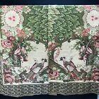 Vintage Chinese Japanese Asian Tapestry 2 Piece Panels Ruan Geisha Girl Rose