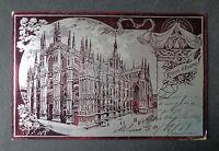 CARTOLINA MILANO IL DUOMO VIAGGIATA DEL 1899 SUBALPINA AAA
