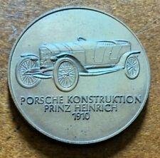 Rare Porsche Konstruktion 1910 Prinz Heinrich 1968 Bronze Medal Coin