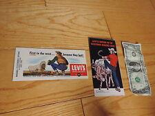 1950s Levi Strauss Overalls Advertising Blotter brochure Old western mini lore