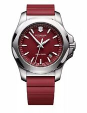NIB VICTORINOX SWISS ARMY INOX PRO DIVER RED SILICONE RED DIAL WATCH 241719.1