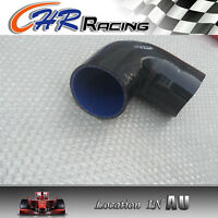 "Black Silicone 90° degree Elbow hose 76mm 3"" ID INTAKE TURBO INTERCOOLER PIPE"