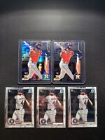 2020 Topps Chrome Yordan Alvarez Prism Refractor, Base & (3) Bowman Chrome Lot
