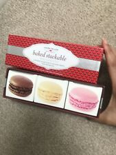 Laura Geller Baked Stackable Macaroon Set In Box Eyeshadow Blush Highlighter New