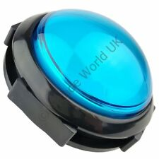 Jumbo Dome 100mm Illuminated Arcade Button Blue with Microswitch & 12V LED