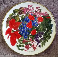 ��1978 Franklin Porcelain Flowers of the Year Plate Coll December by Wedgwood��