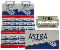 100 Astra Superior Acier Inoxydable Lames de Rasoir Pour Double Bord Gillette
