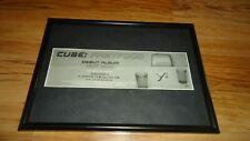 CUBE fastfood-framed original advert