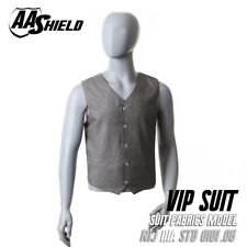 AA Shield Bullet Proof VIP Suit Vest Concealable Body Armor Lvl IIIA 3A XL Gray