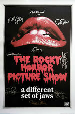 The Rocky Horror Picture Show Movie Poster Signed by 9 cast Excellent replica