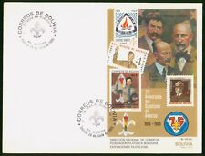 Mayfairstamps Bolivia 1985 Scouts Souvenir Sheet First Day Cover wwo96901