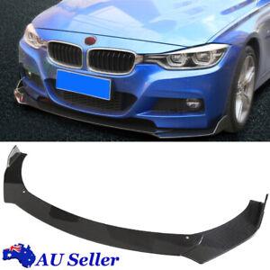 Universal Car Front Bumper Lip Spoiler Protector ABS Carbon Fiber Style Body Kit