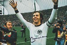 Franz Beckenbauer mano firmado Alemania 12x8 Foto 1.