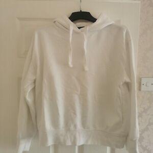 Zara White Hoodie Size M