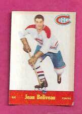 1955-56 PARKHURST # 44 CANADIENS JEAN BELIVEAU  GLUE CARD (INV# C6260)