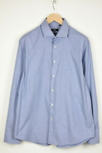 HUGO BOSS BLACK LABEL REGULAR FIT GORDON Men's UK 43 Blue Formal Shirt 37181_GS