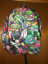 Teenage Mutant Nin ja Turtles Spacejunk backpack laptop  strap ADJ straps   NWT