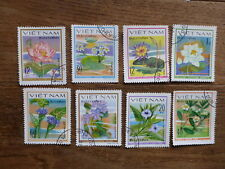 VIETNAM 1980 WATER FLOWERS SET 8 C.T.O. USED STAMPS