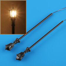 20pcs HO Scale Model Railway Train LED Lamppost Lamps Street Lights 6V 1:100