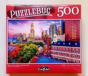 Boston Historic Skyline Massachusetts Puzzlebug 500pc New 18.25 x 11 Free Shipp